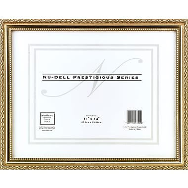 Nu-Dell Executive Frame Goldtone, 11in. x 14in.