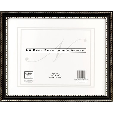 NuDell™ Prestigious Traditional Document Frame, Black with Gold Trim, 11