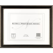 "NuDell™ Prestigious Traditional Document Frame, Black with Gold Trim, 11"" x 14"""