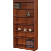 SAFCO Workspace Square Edge Veneer 6-Shelf Bookcase, Medium Oak