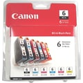 Canon BCI-6 Black and C/M/Y/PC/PM Color Ink Cartridges (4705A018), Combo 6/Pack