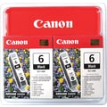 Canon BCI-6BK Black Ink Cartridges (4705A037), 2/Pack