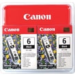 Canon BCI-6BK Black Ink Cartridges, 2/Pack