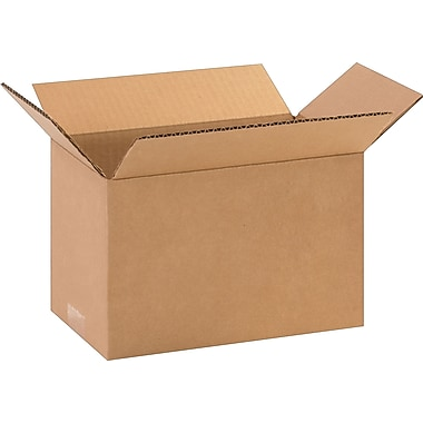10in.(L) x 6in.(W) x 6in.(H)- Staples Corrugated Shipping Boxes, 25/Bundle