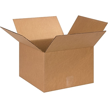13in.(L) x 13in.(W) x 9in.(H)- Staples Corrugated Shipping Boxes