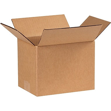 8in.(L) x 6in.(W) x 6in.(H) - Staples Corrugated Shipping Boxes