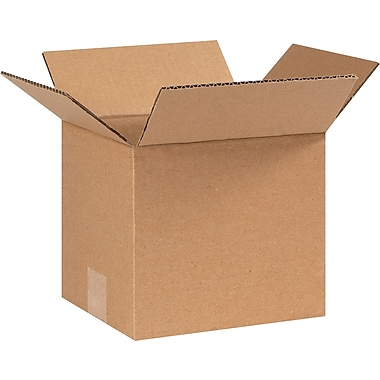 8in.(L) x 7in.(W) x 7in.(H) - Staples Corrugated Shipping Boxes, 25/Bundle