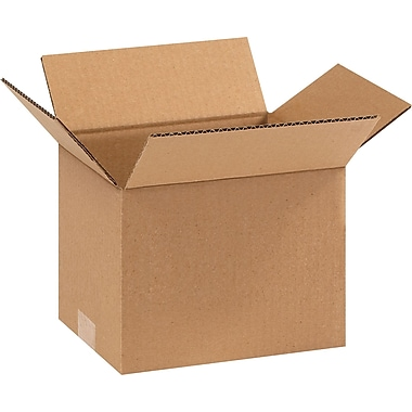 9in.(L) x 7in.(W) x 7in.(H) - Staples Corrugated Shipping Boxes, 25/Bundle
