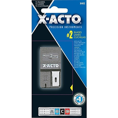X-Acto™ Knife Blade Dispenser, #2 Blades, 15/Pack