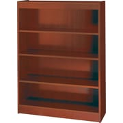 SAFCO Workspace Square Edge Veneer 4-Shelf Bookcase, Mahogany