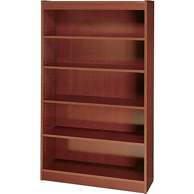 Safco Workspace 36'' 5-Shelf Bookcase, Mahogany (1504MHC)
