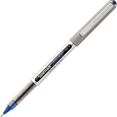uni-ball® Vision Rollerball Pens, 0.7mm, Blue, 12/Pack