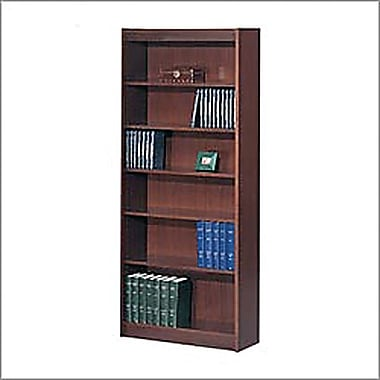 SAFCO Workspace Veneer Baby 30in. Wide Bookcase, Mahogany, 6-Shelf