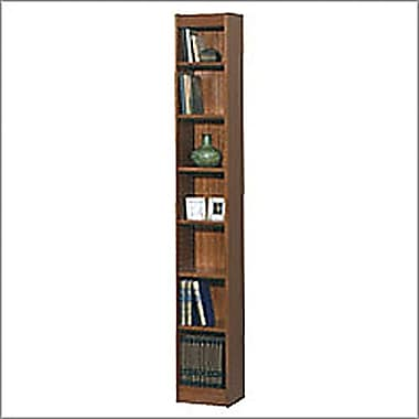 SAFCO Workspace Veneer Baby 12in. Wide Bookcase, Mahogany,  7-Shelf