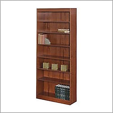 SAFCO Workspace Veneer Baby 30in. Wide Bookcase, Mahogany,  7-Shelf