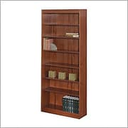 SAFCO Workspace Veneer Baby 30 Wide Bookcase, Mahogany,  7-Shelf