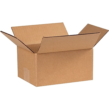 8in.(L) x 6in.(W) x 4in.(H) - Staples Corrugated Shipping Boxes, 25/Bundle