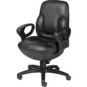 Global Concorde® 24-Hour Ergonomic Leather Executive Mid-Back Chair
