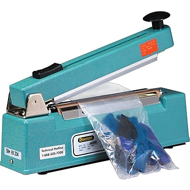 Staples® Impulse Hand Sealers w/ Cutters, 8in. x 1/16in., 1 Each