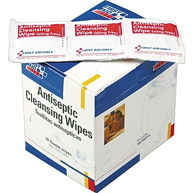 First Aid Only™ Antiseptic Cleansing Wipes