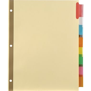Staples Insertable Big Tab Dividers with Buff Paper, Multicolor, 8-Tab