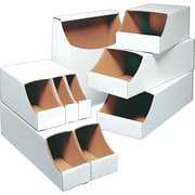 Staples® Stackable Bin Boxes, 7 x 12 x 4-1/2