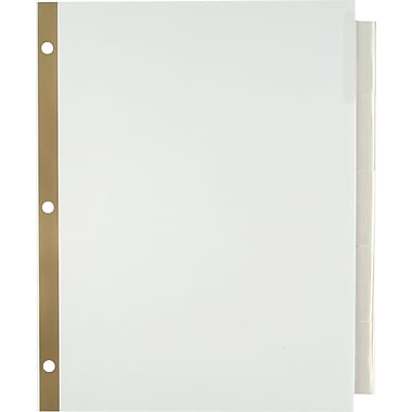 Staples Insertable Big Tab Dividers with White Paper, Clear, 5-Tab