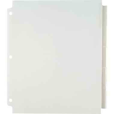 Staples Extra Wide Tab Dividers, Clear, 5-Tab