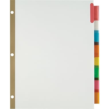 Staples Insertable Big Tab Dividers with White Paper, Multicolor, 8-Tab