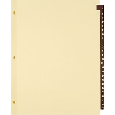 Staples Red Leather Alphabetical Tab Dividers, A-Z