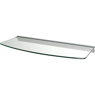 Dolle 24in. x 8 1/2in. Clear Convex Shelf Rail Kit with Silver Rail