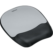 Fellowes Memory Foam Mouse Pad/Wrist Rest, Silver