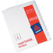 "Avery Allstate® Preprinted Legal Side Tab Dividers, Tab Titles 26-50, White, 8 1/2"" x 11"""