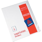 Avery Allstate® Preprinted Legal Side Tab Dividers, Tab Titles 51-75, White, 8-1/2 x 11