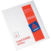 "Avery Allstate® Preprinted Legal Side Tab Dividers, Tab Titles 76-100, White, 8 1/2"" x 11"""