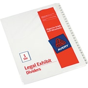 "Avery Allstate® Preprinted Legal Side Tab Dividers, Tab Titles 126-150, White, 8 1/2"" x 11"""