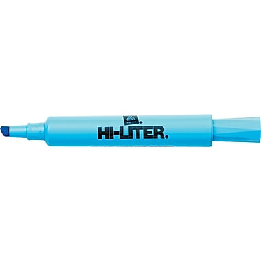 Avery HI-LITER Desk Style Highlighters, Chisel Tip, Light Blue, Dozen