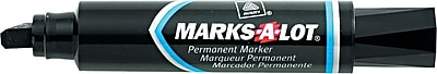 Avery Marks A Lot Permanent Marker Jumbo Chisel Tip Black Each