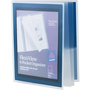 Avery(R) Flexi-View(TM) Six-Pocket Organizer 47696, Navy Blue