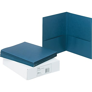 Avery(R) Two-Pocket Folders 47985, Dark Blue, Box of 25