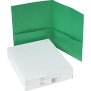 Avery(R) Two-Pocket Folders 47987, Green, Box of 25