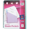 Avery Poly Binder Pockets, Assorted