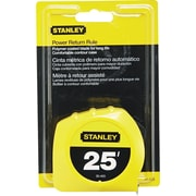 "Stanley Bostitch Tape Rule, 25' Long, Thumb Latch Lock, 1"" Wide, Yellow"