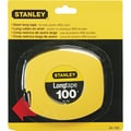 Stanley Bostitch Tape Measure, 100' Long, Yellow, 3/4in.H x 5 7/8in.W x 6 7/8in.D