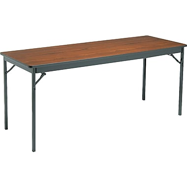 Barricks 6' Folding Laminate Table, 24in. Wide