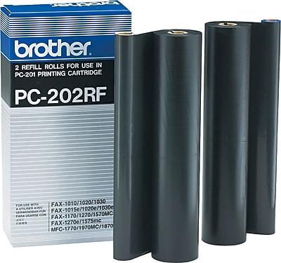 Brother PC202RF Black Fax Printer Ribbon Refill Roll 2 Pack