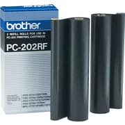 Brother PC202RF Black Fax/Printer Ribbon Refill Roll, 2/Pack