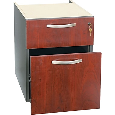 Bush Westfield 3/4 Pedestal File, Hansen Cherry/Graphite Gray, Fully assembled