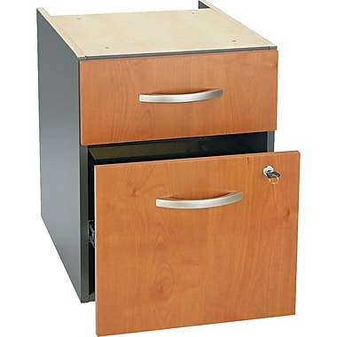 Bush Westfield 3/4 Pedestal File, Natural Cherry/Graphite Gray, Fully assembled