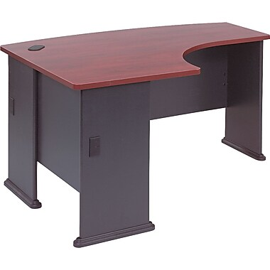 Bush Cubix Left L-Bow Desk, Hansen Cherry and Galaxy
